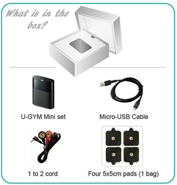 U-Gym Mini TENS Unit - What is in the box?
