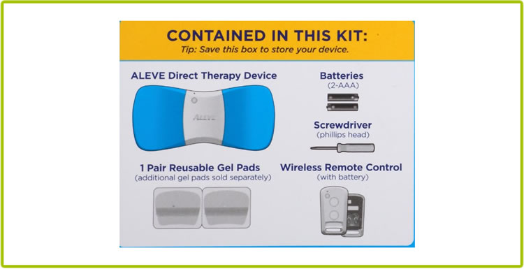 Aleve Direct Therapy - Accesories