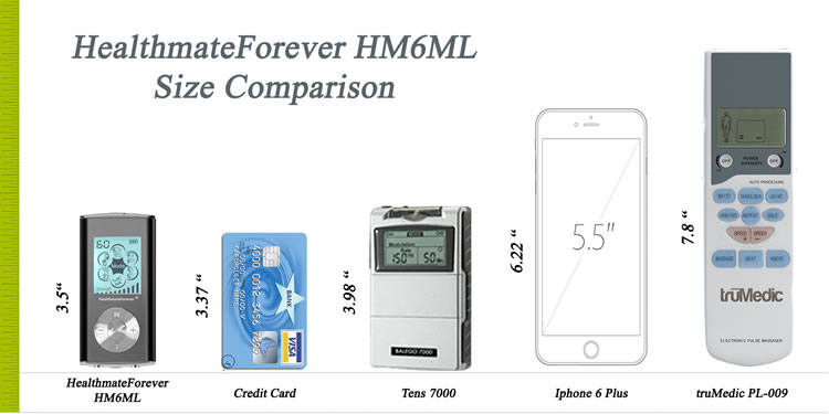 HealthmateForever HM6ML - Size Comparison