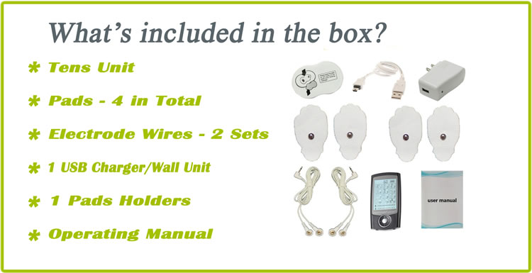 Pro12AB HealthmateForever TENS Unit & Muscle Stimulator - Accesories