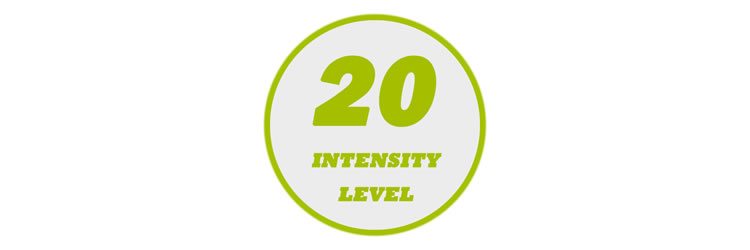 20 Levels of Output Intensity