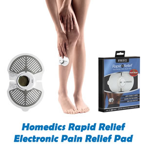 Homedics Rapid Relief Electronic Pain Relief Pad, Back